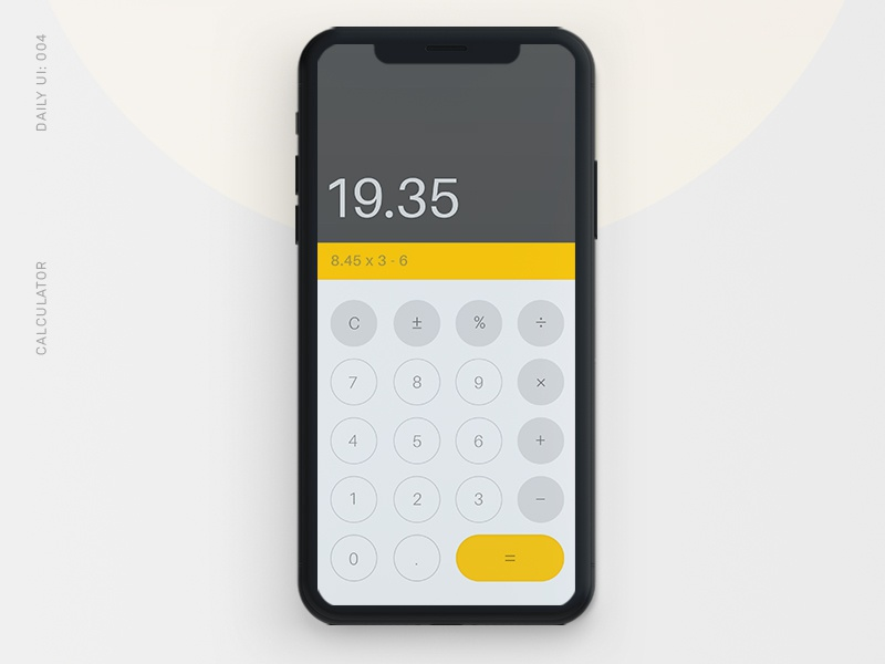 Daily UI 004: Calculator calculator dailyui