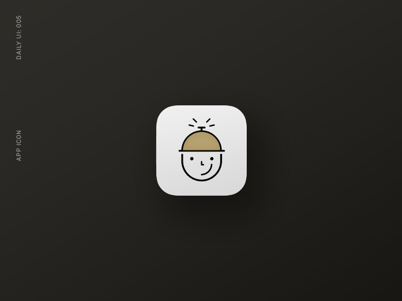 Daily UI 005: App Icon happyface linedrawing servicebell ondemand maintenance appicon dailyui