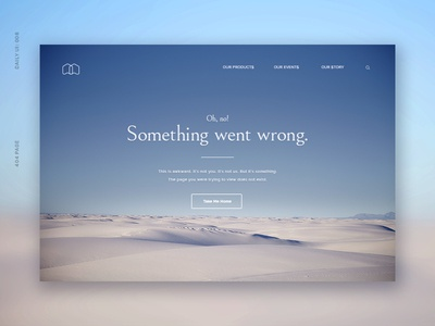 Daily UI 008: 404 Error Page