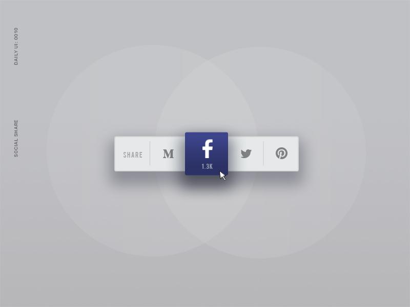 Daily UI 010: Social Share socialshare ui dailyui