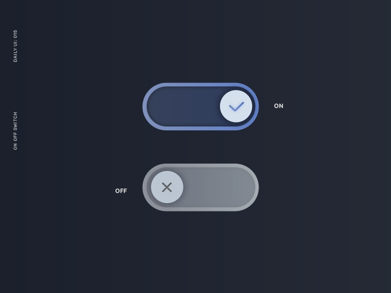 Daily UI 015: On/Off Switch slider button off on switch ui dailyuichallenge dailyui