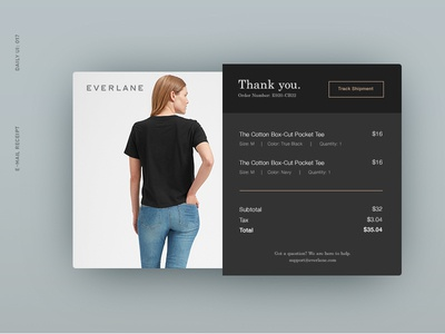 Daily UI 017: E-Mail Receipt