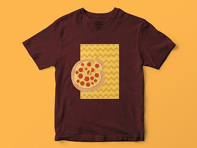 PizzaBhai artoftheday wacom illustratror clothes apparel tshirt design minimalist illustration digital drawing photoshop graphic design adobe