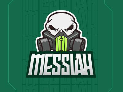 Messiah dribble pro branding toxic valorant graphic design logo adobe mask skull sports esports gaming mascot