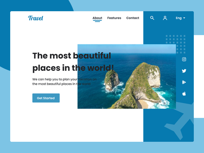 Travel - Web Design figma design figmadesign figma websites webdesign web design website concept website design website web ux ui design