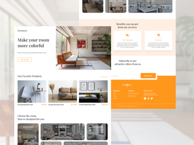 Roomate - Furniture Web uxdesign uidesign website website design web design webdesign web ux ui design figma design figmadesign figma