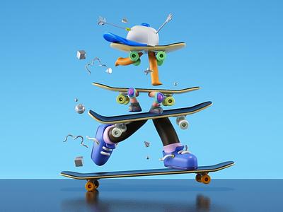Skate cgi 3d character design character design illustration skater skateboard skateboarding skate
