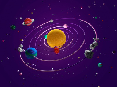 Space planets cgi design 3d character universe space illustration