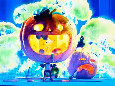 Halloween art design pumkin illustration halloween