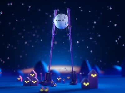 Fly Me To The Moon childbook friends kids character design 3d character design illustration moon
