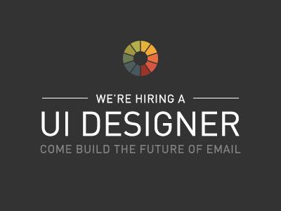 We're Hiring litmus email jobs job career careers designer ui ui designer