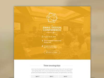 [Email] #TEDC14 Announcement Email email email design email development tedc14 the email design conference conference html5 video html5 video background video