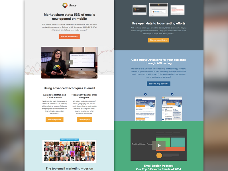 Email litmus newsletter february 2015 by kevin for Modern email design