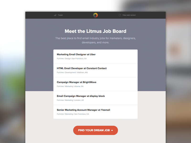 [Email] Job Board Launch job board jobs html email email development email design email litmus