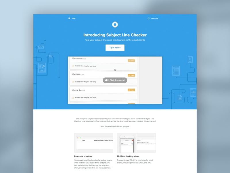 Email] Subject Line Checker Launch by Kevin Mandeville for