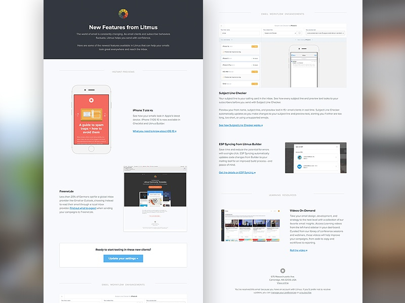 [Email] Litmus Feature Updates newsletters email newsletters email email development email design html email litmus