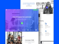 SaaS Home Page Concept