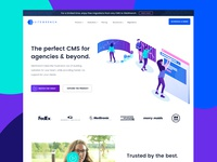 SaaS Home Page w/Illustrations