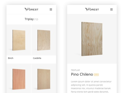 Web Mobile Product Pages product cards spanish mexico wood product detail product listing