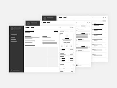 Dashboard Wireframe web app design sprint wireframes