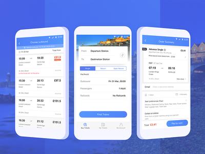 Train tickets app UI
