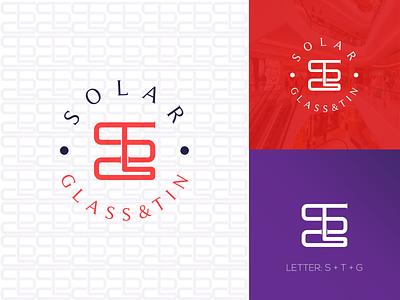 SGT Lettering logo design logodaily logomark logoroom logodesigner logomakeronline logomaker logoplace solar minimalist branding logo glassdoor glass text logo lettermark lettering logoinspiration logoidea logotype logodesign