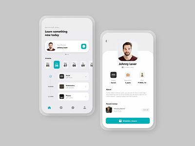 Skillify: The e-learning app mobile subjects elearning ios mobile app ui design slider saver navbar mobile ui ui learningapp skillify skill app