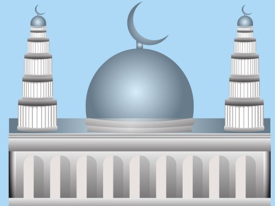 Mosque design illustration