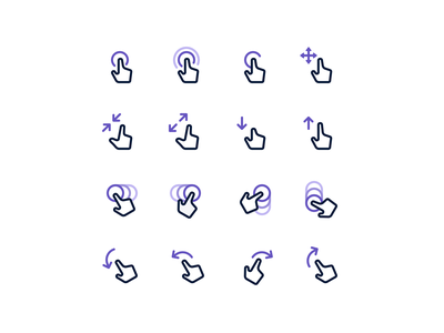 Gestures flow chart flowchart flow project icon set iconography icons icon design icon gestures gesture