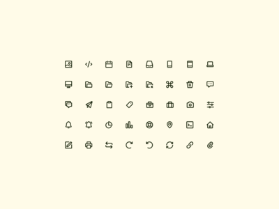 Icons continued — Open Source