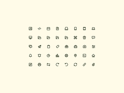 Icons continued — Open Source interface icons design icon design 24px iconography icon sets icon set icons set icons ui icon design