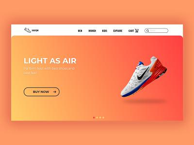 Scarpe landing page website shoes dailyui logo branding home page landingpage ui webdesign web ios app ux uidesigner ui design