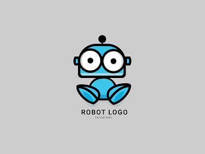 Robot Logo   3D Branding 3d branding design brand identity brand design branding brand 3d logo 3d logo maker 3d logos minimal logodesign logo design logo mark logos logo