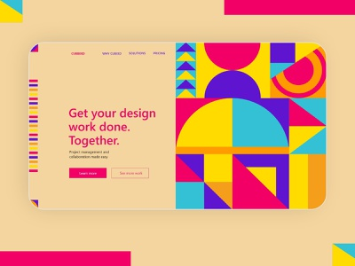 Bauhaus Web UI geometric art header abstract art 2021 trend trend homepage ladingpage bauhaus uiux web ui web design web ui