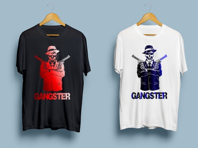 Gangster illustrator graphic design typography logo illustration design