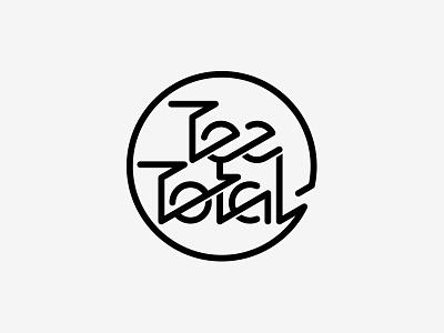 Unused Logo retro circle unused identity logo tee total experimental type neon superfried