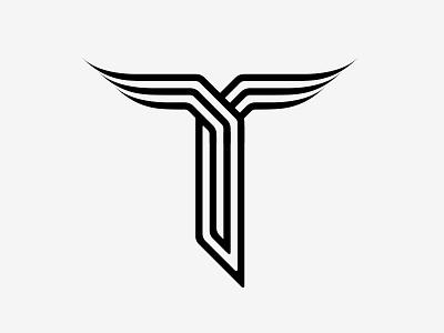 Unused Logo 4 experimental type stylised t t op-art 3d stripes identity unused logo superfried