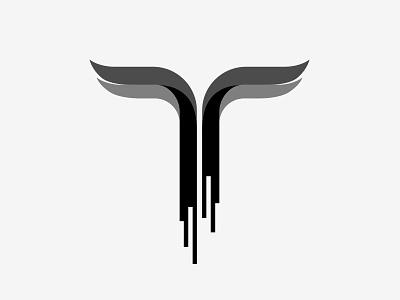 Unused Logo 5 music t-logo experimental type wings t with wings stylised t logo unused logo identity superfried