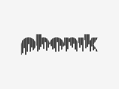 Phonik Logotype typography music logo brand identity phonik superfried