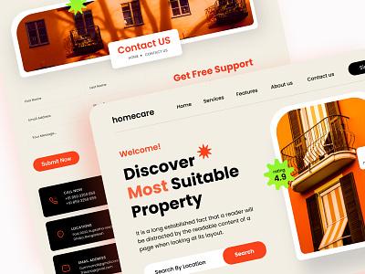 Real Estate Website Design graphic design landing page webui app design app