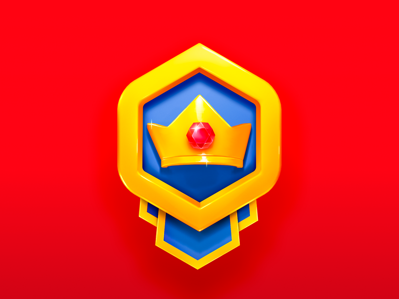 Golden Badge money prize game mobile love gold crown jewel badge