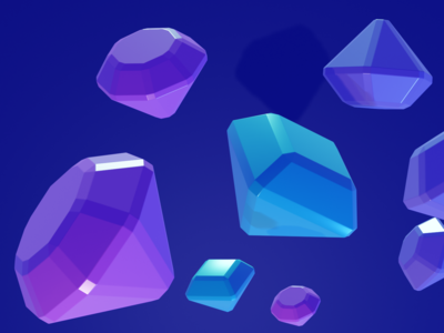 Diamonds - free blender file