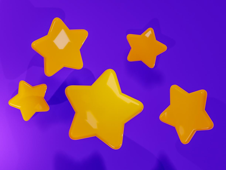 Stars - free blender file by Nara Vieira da Silva on Dribbble