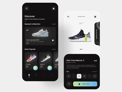 Shoe app 👟 ecommerce app store inspiration product design nike shoes shoe store shoes app ux minimalist clean trending minimal ecommerce app ui ux daily clean ui ui
