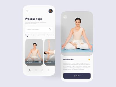 Yoga app UI design ui ux daily clean minimal clean ui