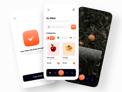 Grocer - Online Grocery store design ux minimal clean daily clean ui