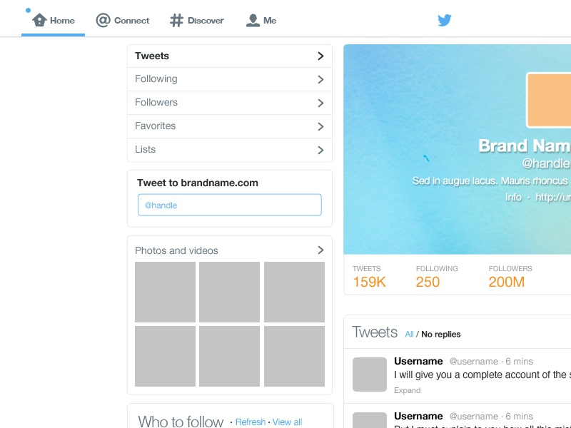 Freebie twitter gui psd template rebound from marie for Blank twitter profile template
