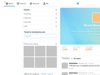 Freebie : Twitter GUI PSD (Template Rebound from Marie Dehayes)