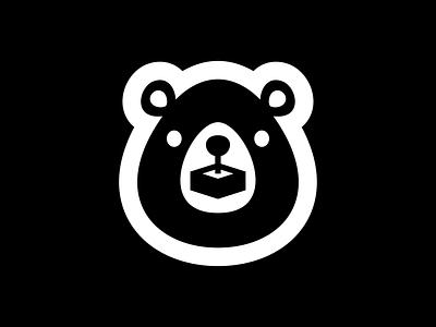 Gamer Bear player play games game gamers animal logo icon design art artsigma bear logo bear gamer
