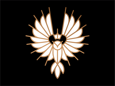 OWL king bird illustration symbol mark icon design art artsigma vintage branding logo-design mystical logo owl